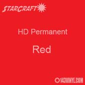 "12"" x 5' Roll - StarCraft HD Glossy Permanent Vinyl - Red"