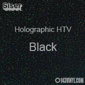 """12"""" x 20"""" Sheet Siser Holographic HTV - Black"""