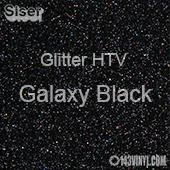 "Glitter HTV: 12"" x 20"" - Galaxy Black"