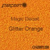 "12"" x 24"" Sheet - StarCraft Magic - Deceit Glitter Orange"