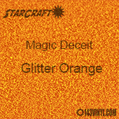 "12"" x 12"" Sheet - StarCraft Magic - Deceit Glitter Orange"