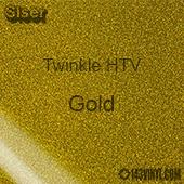 """12"""" x 20"""" Sheet Siser Twinkle HTV - Gold"""