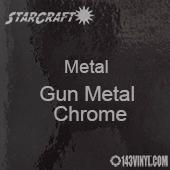 "12"" x 12"" Sheet - StarCraft Metal - Gun Metal Chrome"
