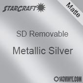 "12"" x 12"" Sheet -StarCraft SD Removable Matte Adhesive - Metallic Silver"
