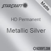 """12"""" x 24"""" Sheet - StarCraft HD Matte Permanent Vinyl - Metallic Silver"""