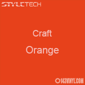 "Styletech Craft Vinyl - Orange- 12"" x 24"" Sheet"