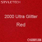 "StyleTech 2000 Ultra Glitter - 129 Red - 12""x24"" Sheet"