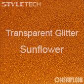 """StyleTech Transparent Glitter - Sunflower - 12""""x24"""" Sheet"""