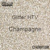 """Glitter HTV: 12"""" x 20"""" - Champagne"""
