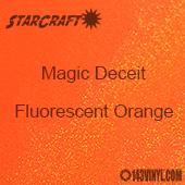 "12"" x 24"" Sheet - StarCraft Magic - Deceit Glitter Fluorescent Orange"