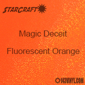 "12"" x 12"" Sheet - StarCraft Magic - Deceit Glitter Fluorescent Orange"
