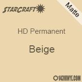 "12"" x 5' Roll - StarCraft HD Matte Permanent Vinyl - Beige"
