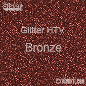 """Glitter HTV: 12"""" x 20"""" - Bronze"""