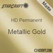 """12"""" x 24"""" Sheet - StarCraft HD Matte Permanent Vinyl - Metallic Gold"""