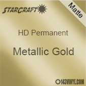 "24"" x 10 Yard Roll - StarCraft HD Matte Permanent Vinyl - Metallic Gold"