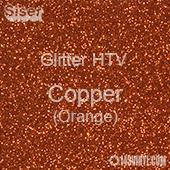"Glitter HTV: 12"" x 5 Yard Roll - Copper (Orange)"