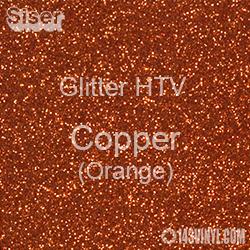 "Glitter HTV: 12"" x 20"" - Copper (Orange)"