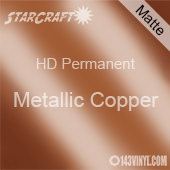"12"" x 5' Roll - StarCraft HD Matte Permanent Vinyl - Metallic Copper"