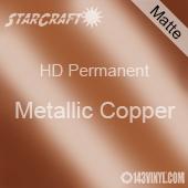 """12"""" x 12"""" Sheet - StarCraft HD Matte Permanent Vinyl - Metallic Copper"""