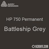"Avery HP 750 - Battleship Grey- 12"" x 5 Foot"