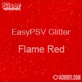 """Siser EasyPSV Glitter - Flame Red (55) - 12"""" x 24"""" Sheet"""
