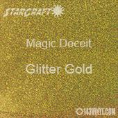 """12"""" x 12"""" Sheet - StarCraft Magic - Deceit Glitter Gold"""