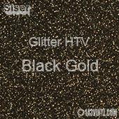 """Glitter HTV: 12"""" x 20"""" - Black Gold"""