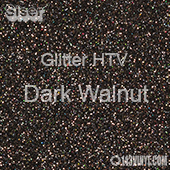 """Glitter HTV: 12"""" x 5 Yard Roll - Dark Walnut"""