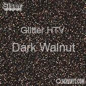 """Glitter HTV: 12"""" x 20"""" - Dark Walnut"""