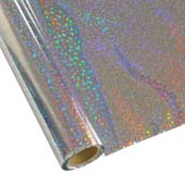 """25 Foot Roll of 12"""" StarCraft Electra Foil - Silver Sequins"""