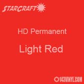 "24"" x 10 Yard Roll - StarCraft HD Glossy Permanent Vinyl - Light Red"