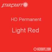 "12"" x 12"" Sheet - StarCraft HD Glossy Permanent Vinyl - Light Red"
