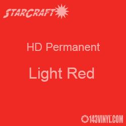 "12"" x 10 Yard Roll - StarCraft HD Glossy Permanent Vinyl - Light Red"