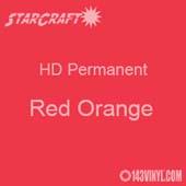 "12"" x 12"" Sheet - StarCraft HD Glossy Permanent Vinyl - Red Orange"