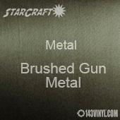 """12"""" x 12"""" Sheet - StarCraft Metal- Brushed Gun Metal"""