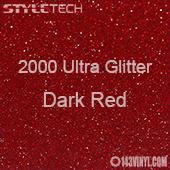 "StyleTech 2000 Ultra Glitter - 146 Dark Red - 12""x24"" Sheet"