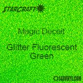 """12"""" x 12"""" Sheet - StarCraft Magic - Deceit Glitter Fluorescent Green"""