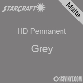 "12"" x 5' Roll - StarCraft HD Matte Permanent Vinyl - Grey"