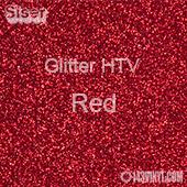 "Glitter HTV: 12"" x 5 Yard Roll - Red"