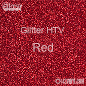 "Glitter HTV: 12"" x 20"" - Red"