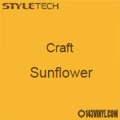 """Styletech Craft Vinyl - Sunflower- 12"""" x 24"""" Sheet"""