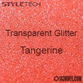 """StyleTech Transparent Glitter - Tangerine - 12""""x24"""" Sheet"""