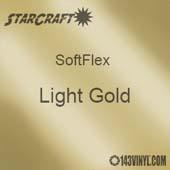 """12"""" x 12"""" Sheet - StarCraft SoftFlex HTV - Light Gold"""