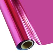 """25 Foot Roll of 12"""" StarCraft Electra Foil - Hot Pink"""