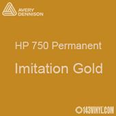 """Avery HP 750 - Imitation Gold- 12"""" x 5 Foot"""