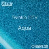 "12"" x 20"" Sheet Siser Twinkle HTV - Aqua"