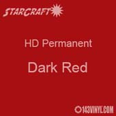 "12"" x 24"" Sheet - StarCraft HD Glossy Permanent Vinyl - Dark Red"