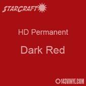"12"" x 12"" Sheet - StarCraft HD Glossy Permanent Vinyl - Dark Red"