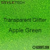 """StyleTech Transparent Glitter - Apple Green - 12""""x24"""" Sheet"""