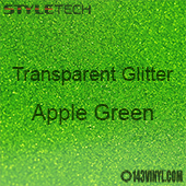 """StyleTech Transparent Glitter - Apple Green - 12""""x 12"""" Sheet"""